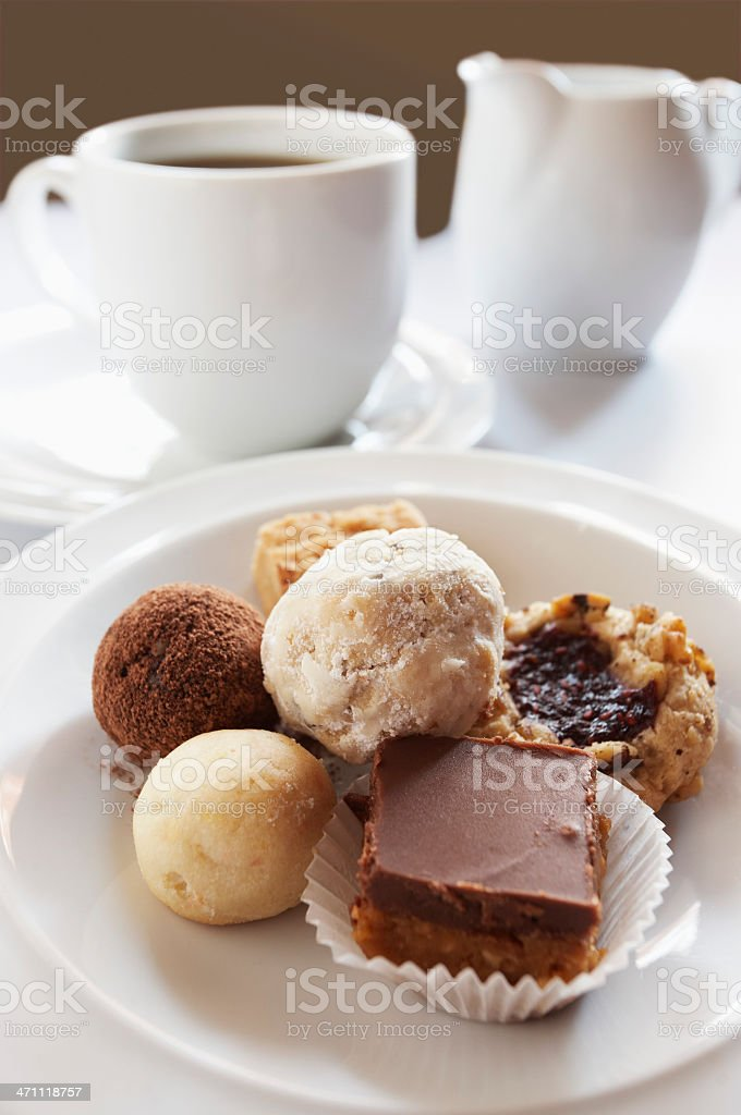 Cookies and Coffee royalty-free stock photo