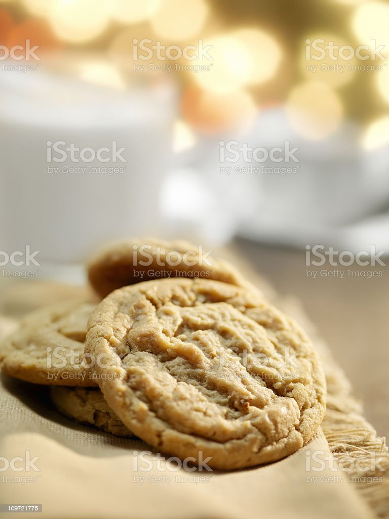 Cookies and Milk at Christmas Time royalty-free stock photo