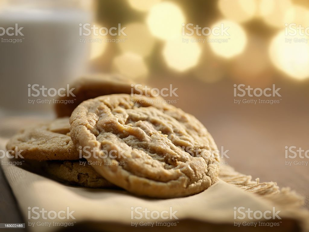 Cookies and Milk at Christmas Time stock photo