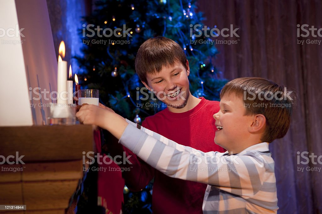 Cookies and milk for Santa. royalty-free stock photo