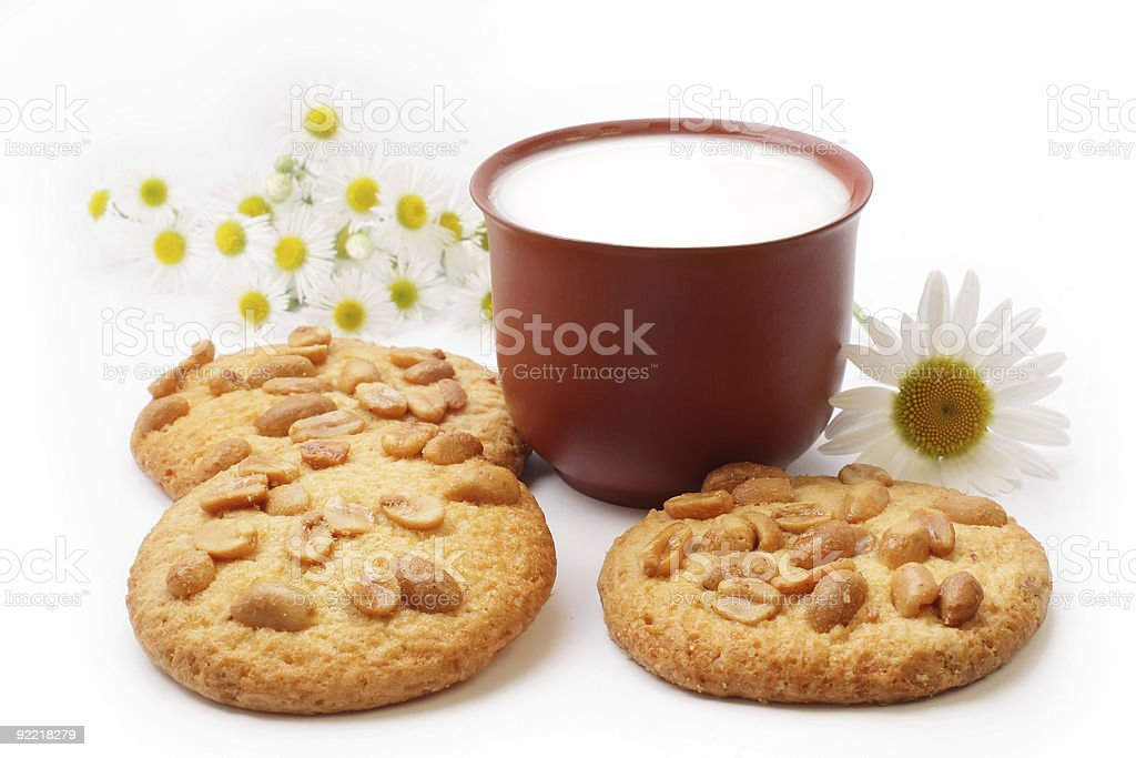 Cookies and milk. royalty-free stock photo