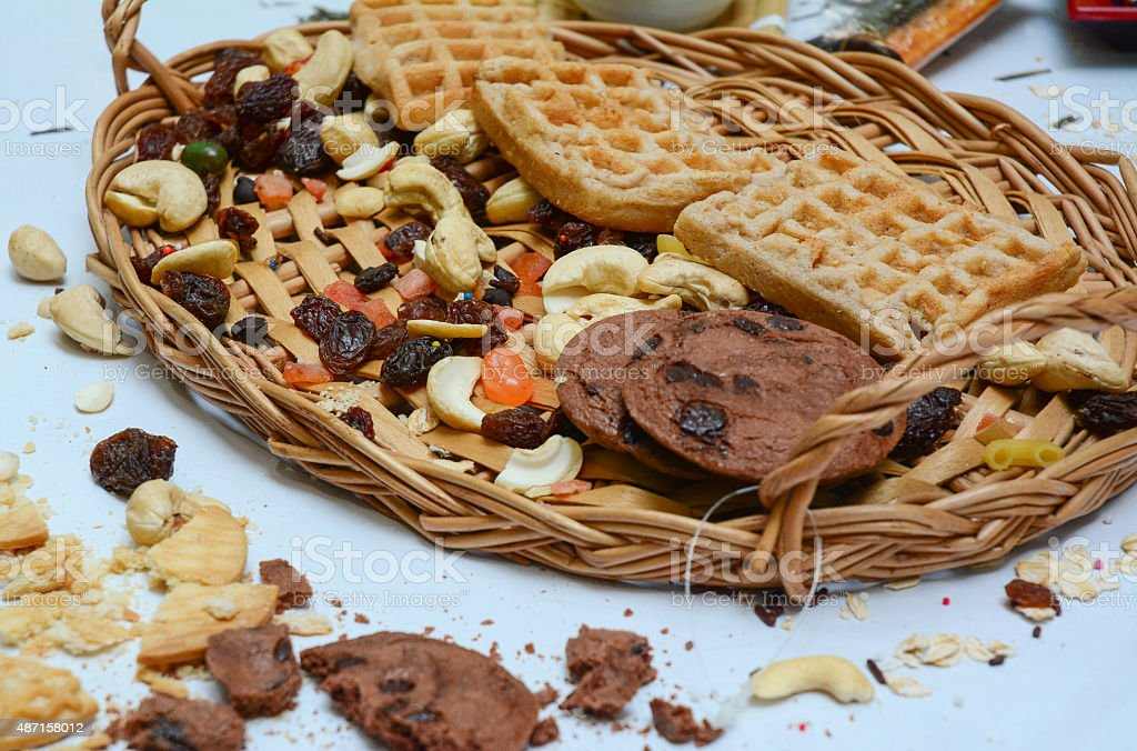 Cookies and Pastry Closeup stock photo