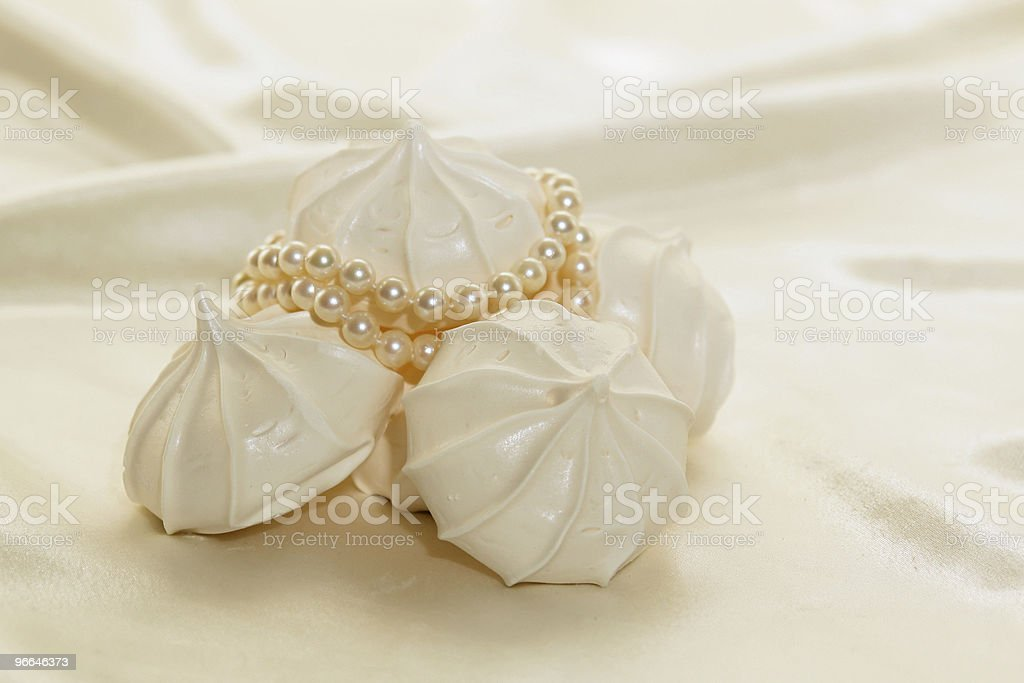 cookies and pearls stock photo