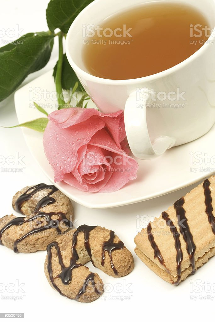 Cookies and tea royalty-free stock photo