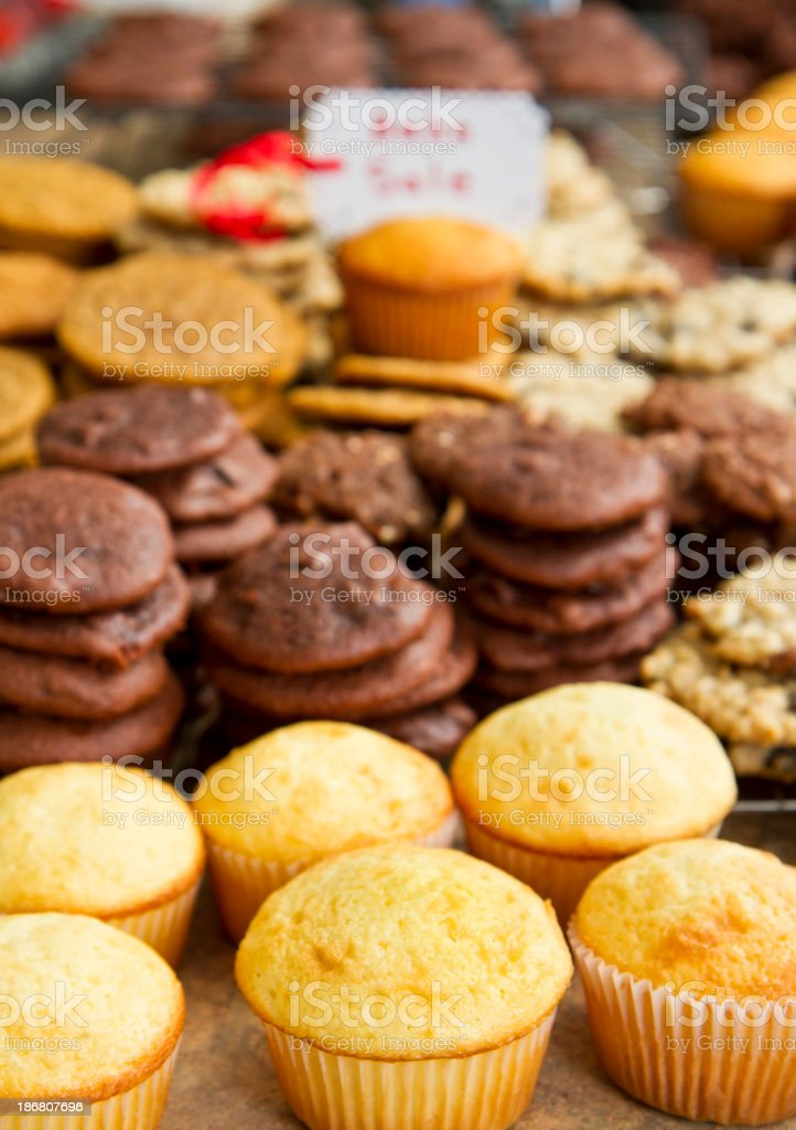 Cookies At A Bake Sale stock photo