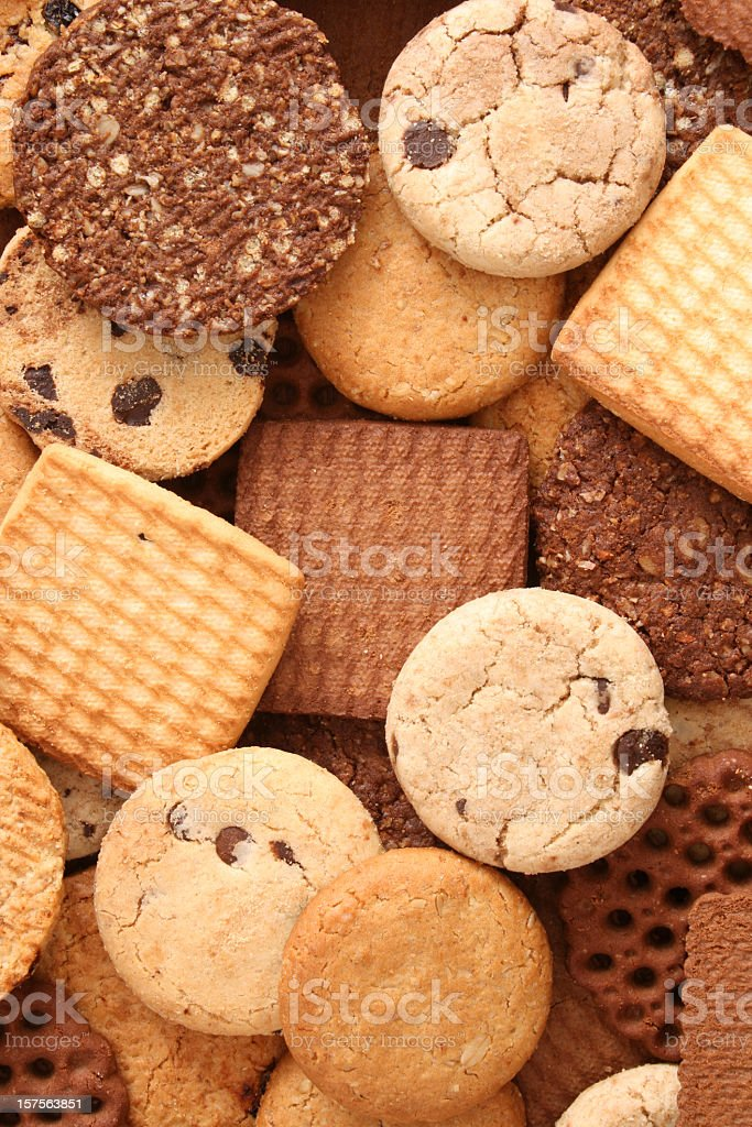 Cookies background royalty-free stock photo