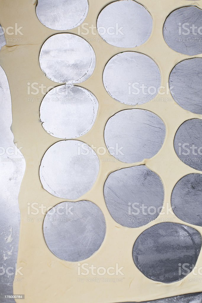 cookies cutted out of dough royalty-free stock photo