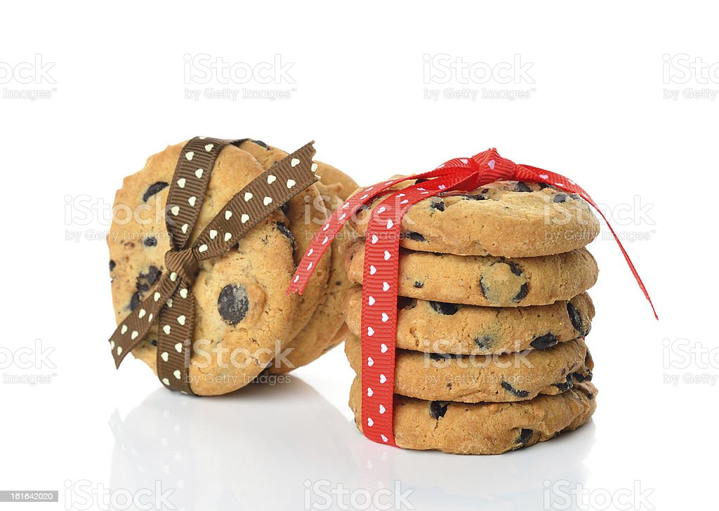 Cookies decorated with ribbons royalty-free stock photo