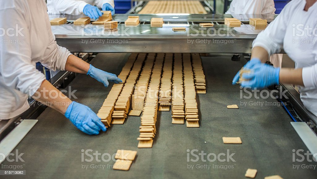 Cookies factory stock photo