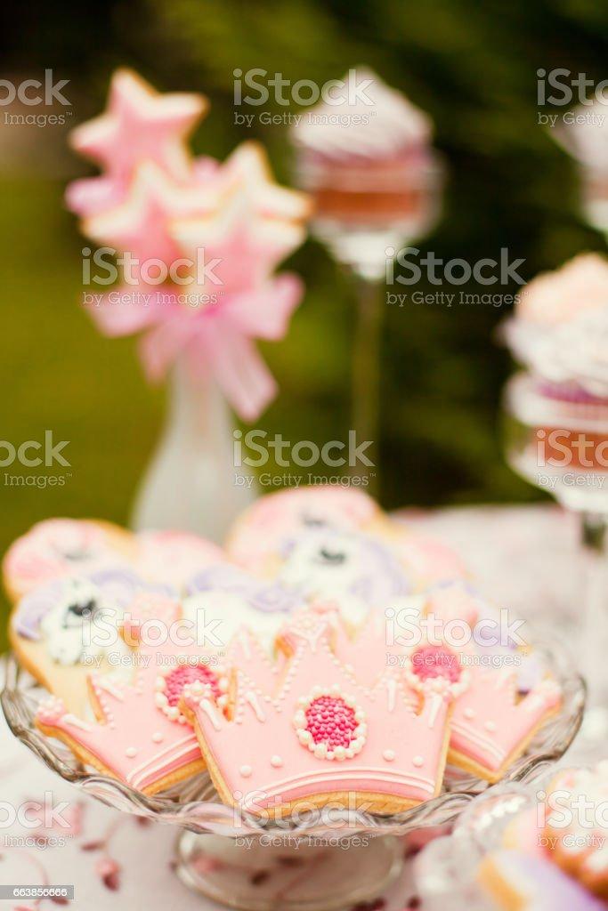 cookies for princess stock photo