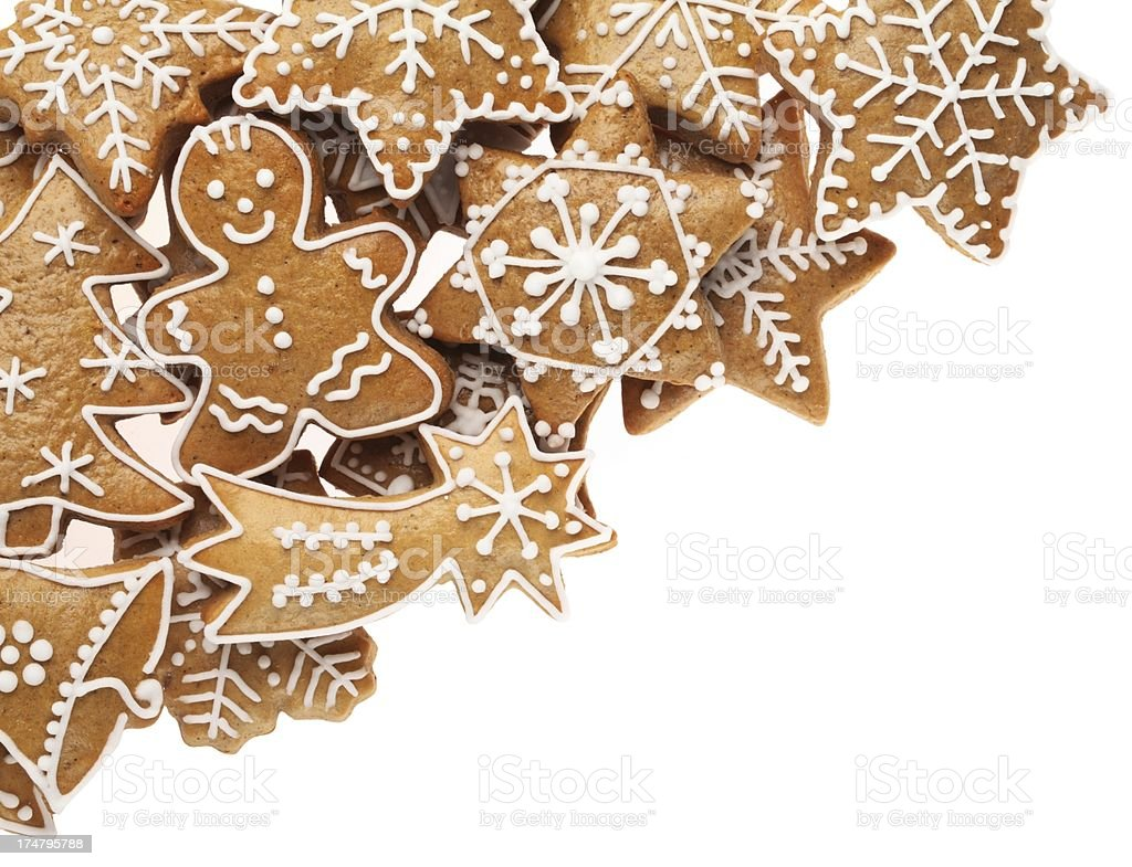 Cookies frame royalty-free stock photo