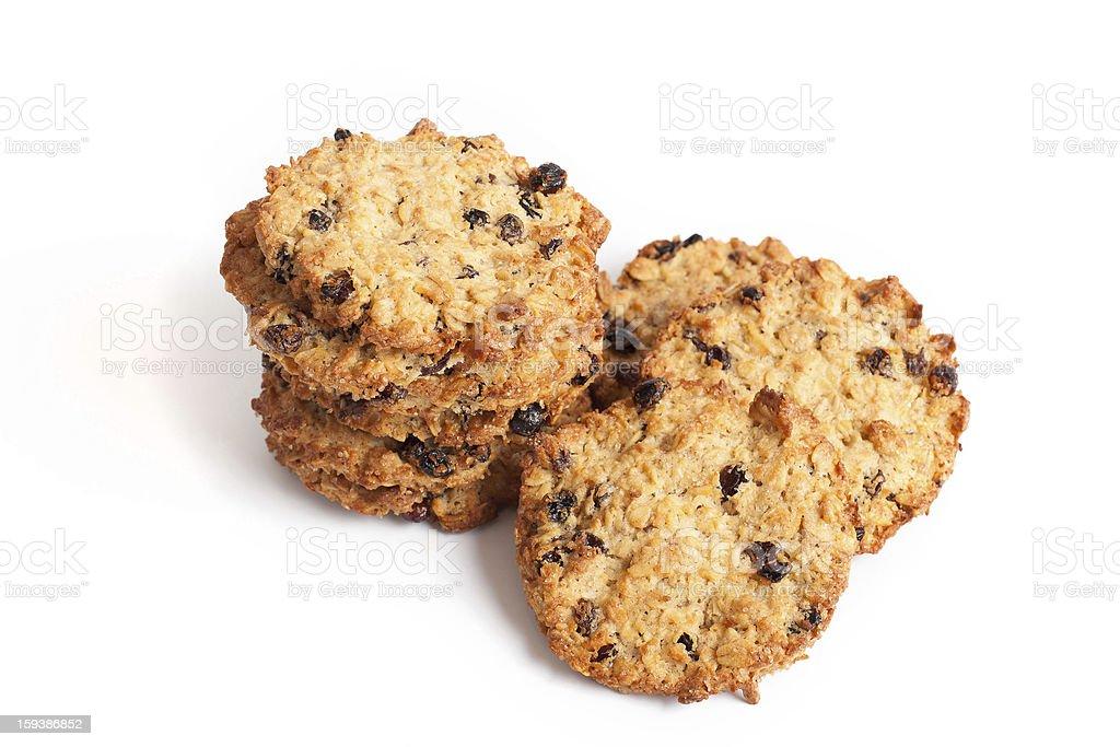 Cookies from porridge with raisin royalty-free stock photo