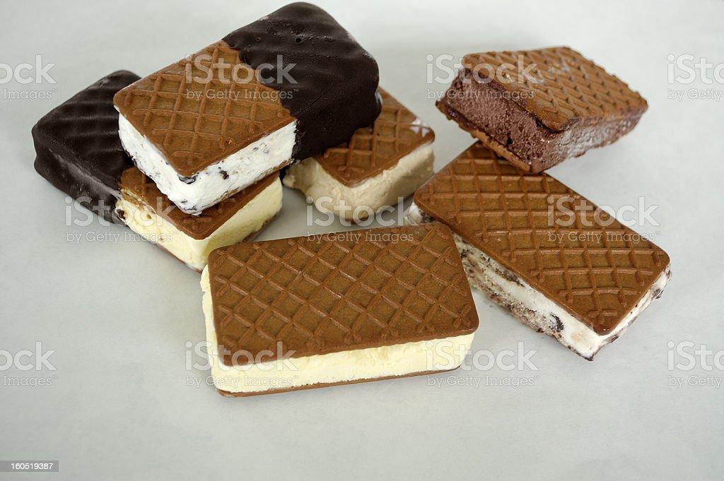 Cookies Ice Cream Sandwiches stock photo