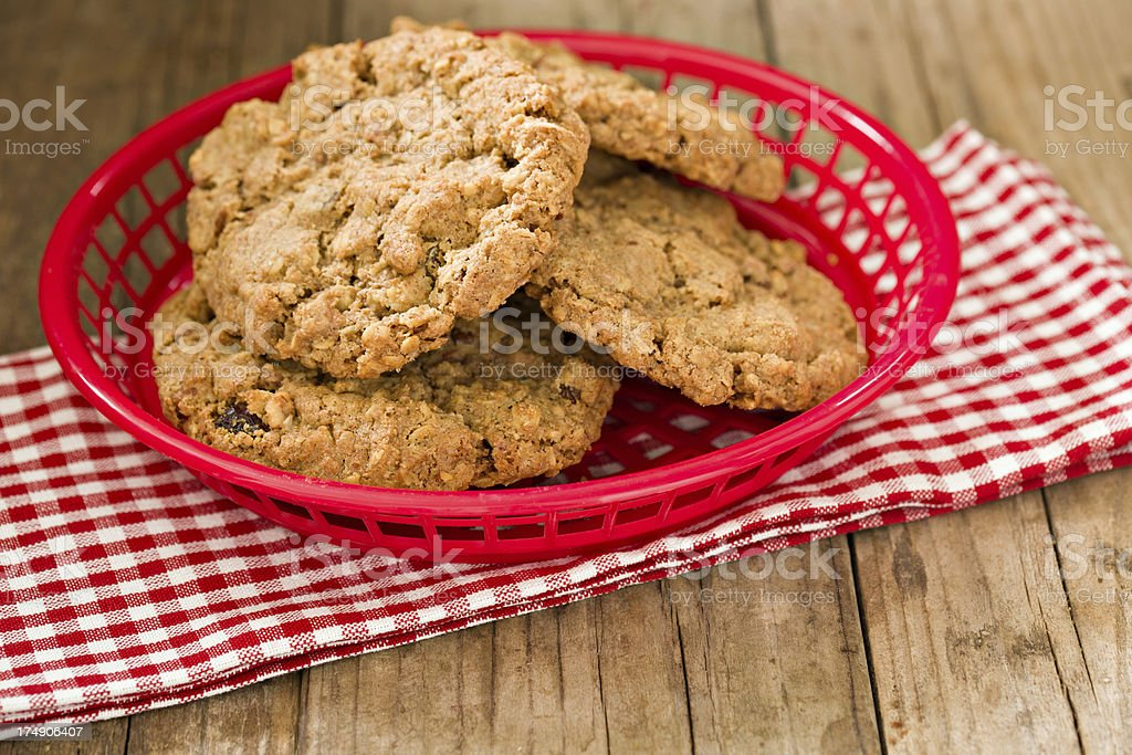 Cookies In A Basket royalty-free stock photo