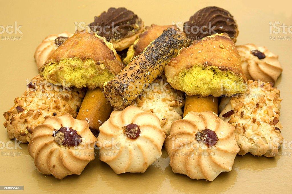 Cookies in assortiment stock photo