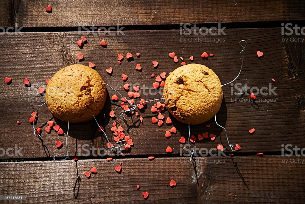 Cookies in love royalty-free stock photo