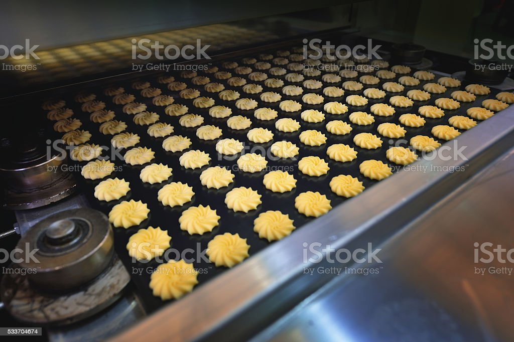 Cookies in Production Line stock photo