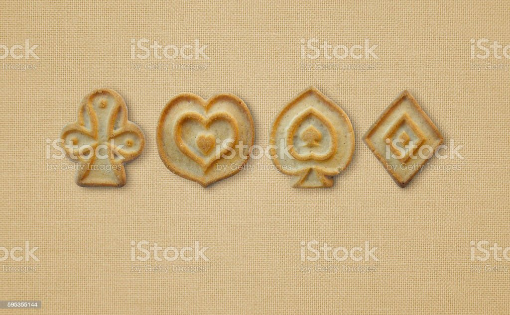 Cookies in the form of a card masti. stock photo