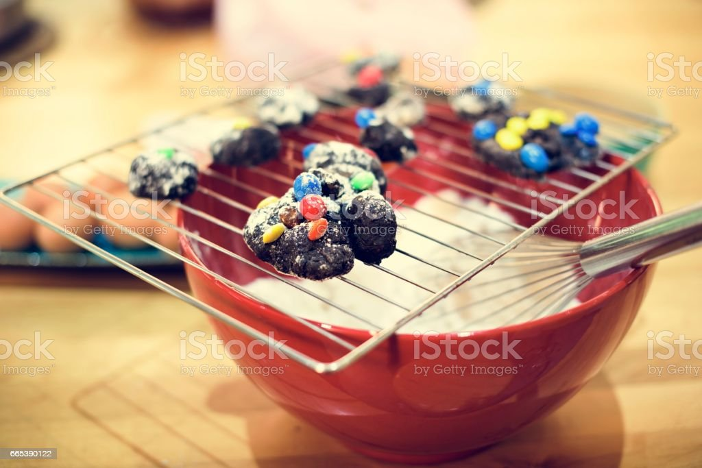 Cookies Ingrediants Recipe Homemade Pastry Concept stock photo