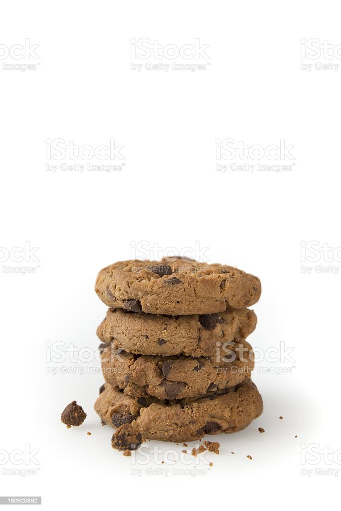 Cookies Isolated on a White Background royalty-free stock photo
