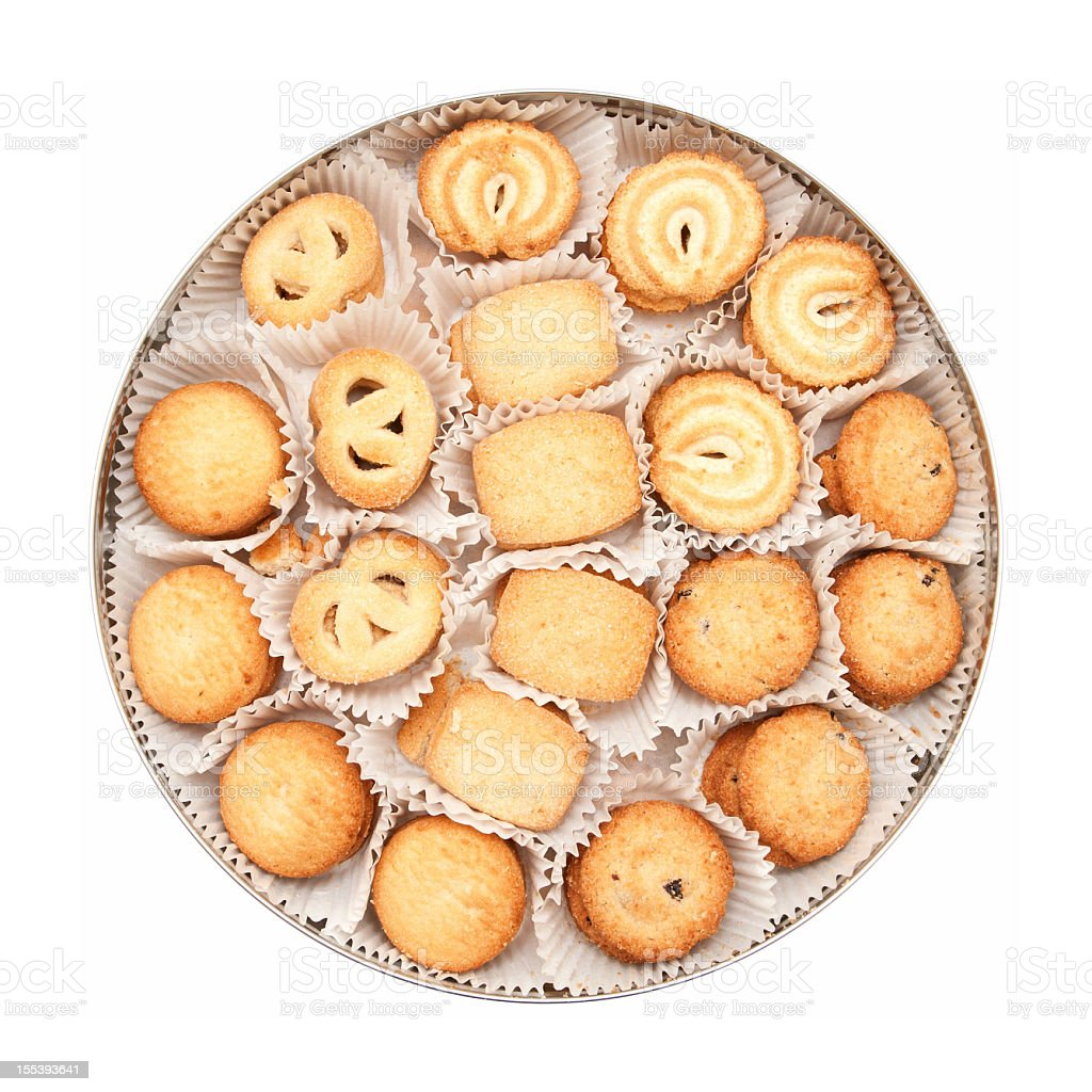 Cookies (Clipping path!) isolated on white background stock photo