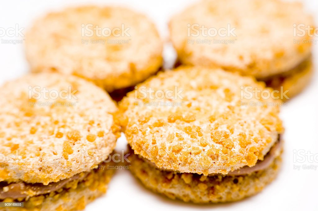Cookies isolated on white background royalty-free stock photo