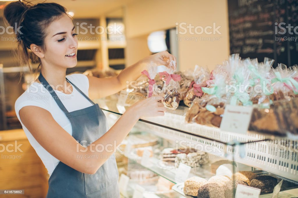Cookies look perfect on display here stock photo