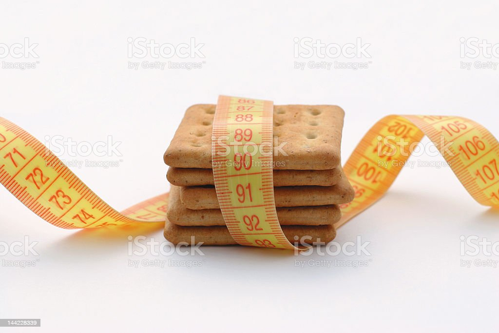 Cookies measure royalty-free stock photo