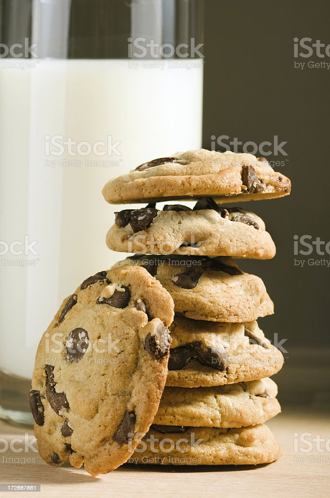 Cookies & Milk royalty-free stock photo