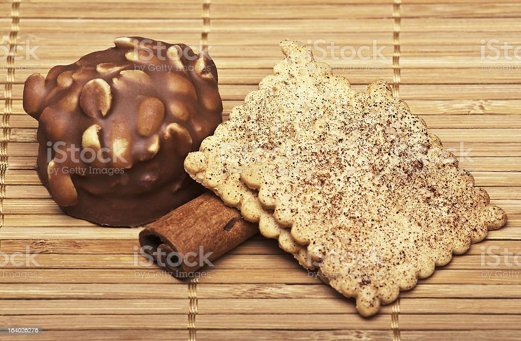 Cookies on a plate royalty-free stock photo