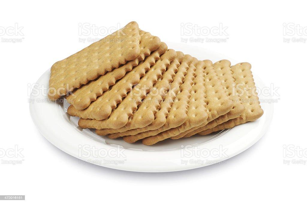 Las Cookies en una placa foto de stock libre de derechos