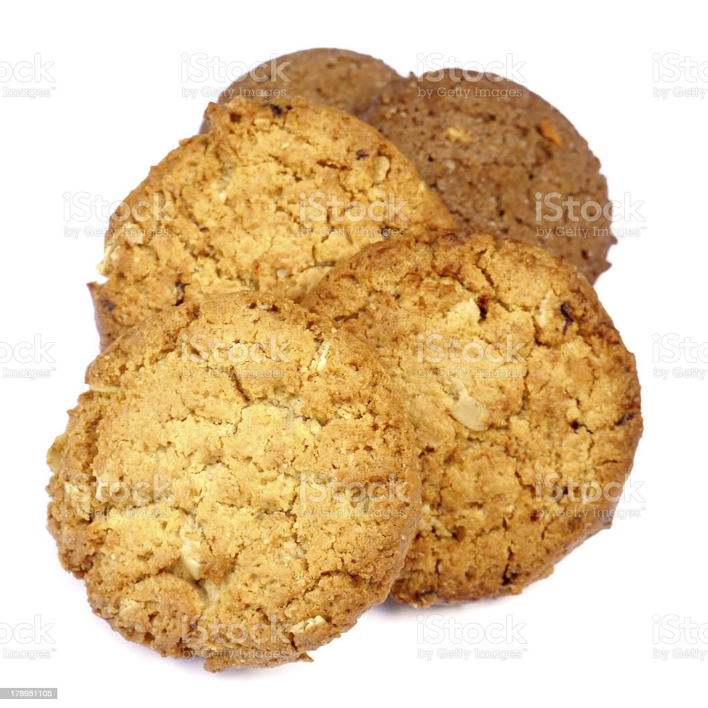 Cookies on a white background. royalty-free stock photo