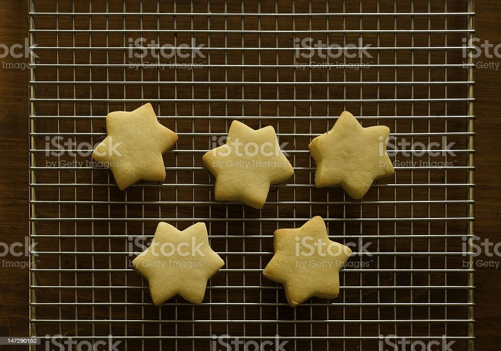 Cookies on cooling rack royalty-free stock photo