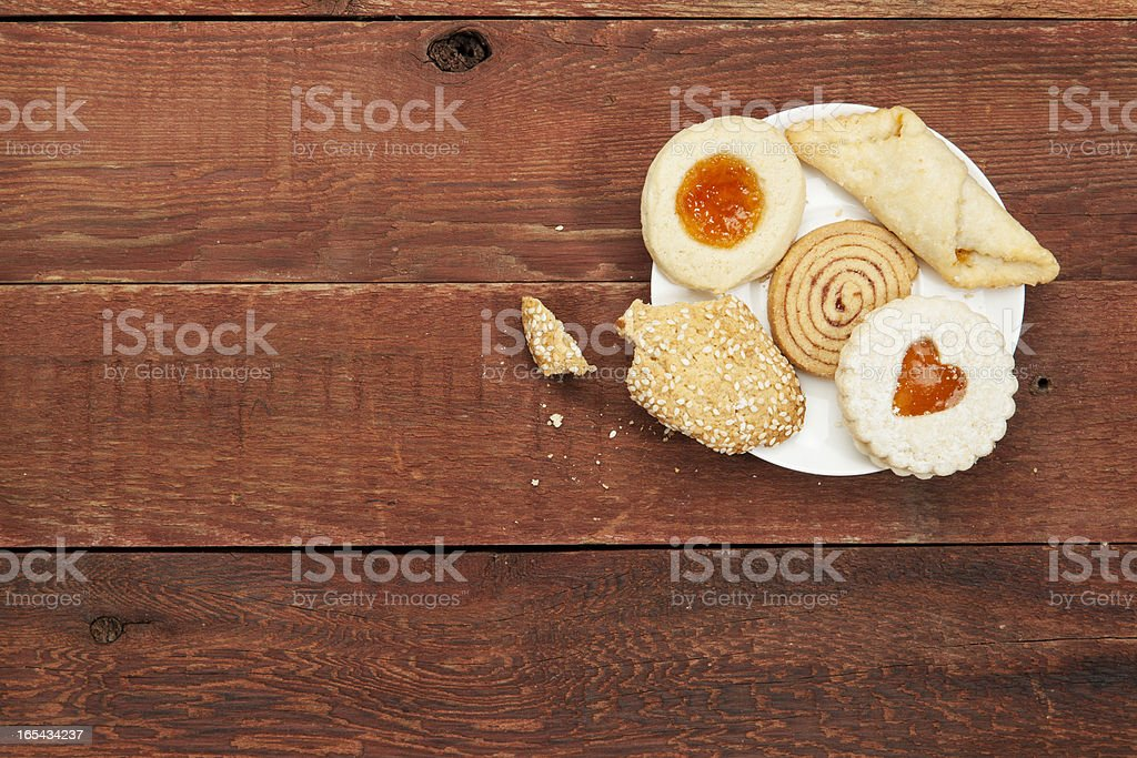 cookies on rustic table royalty-free stock photo