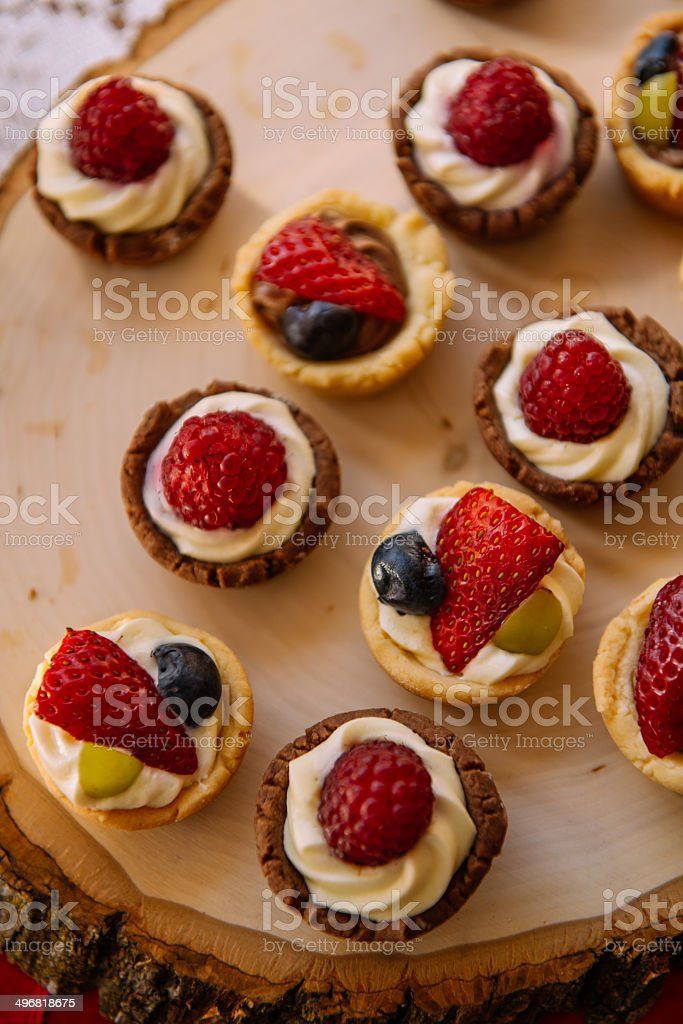 Cookies on the Banquet table stock photo