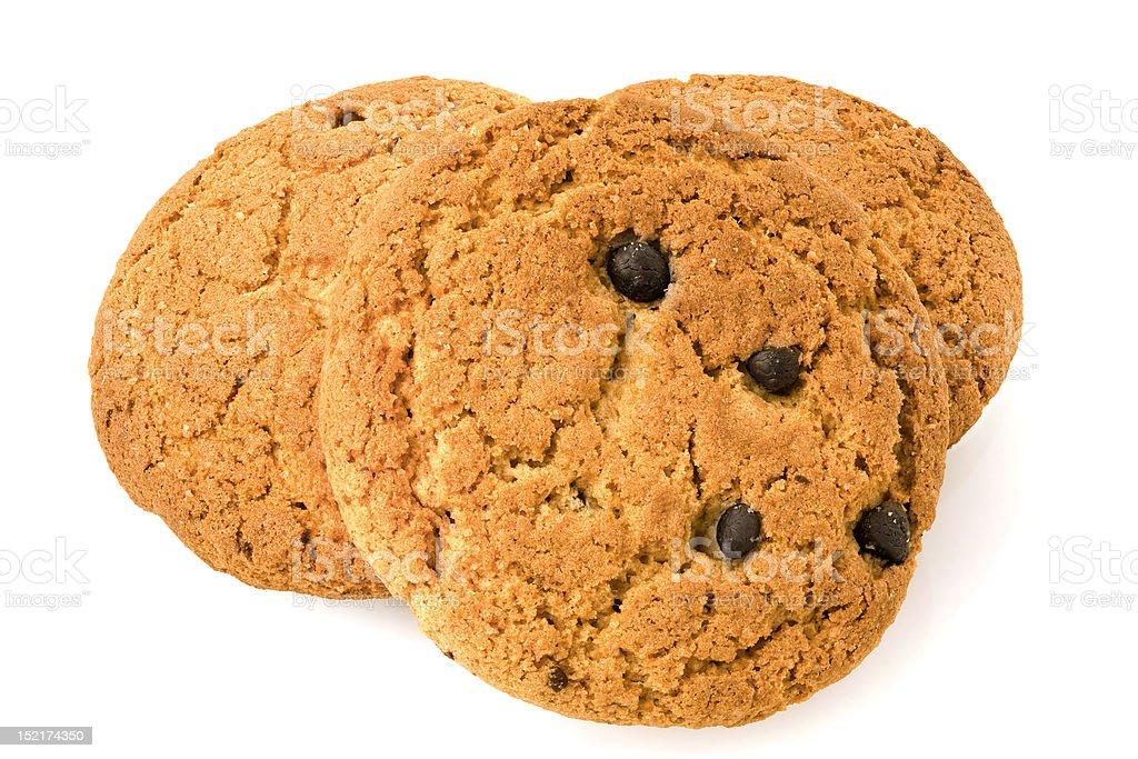 Cookies on white royalty-free stock photo