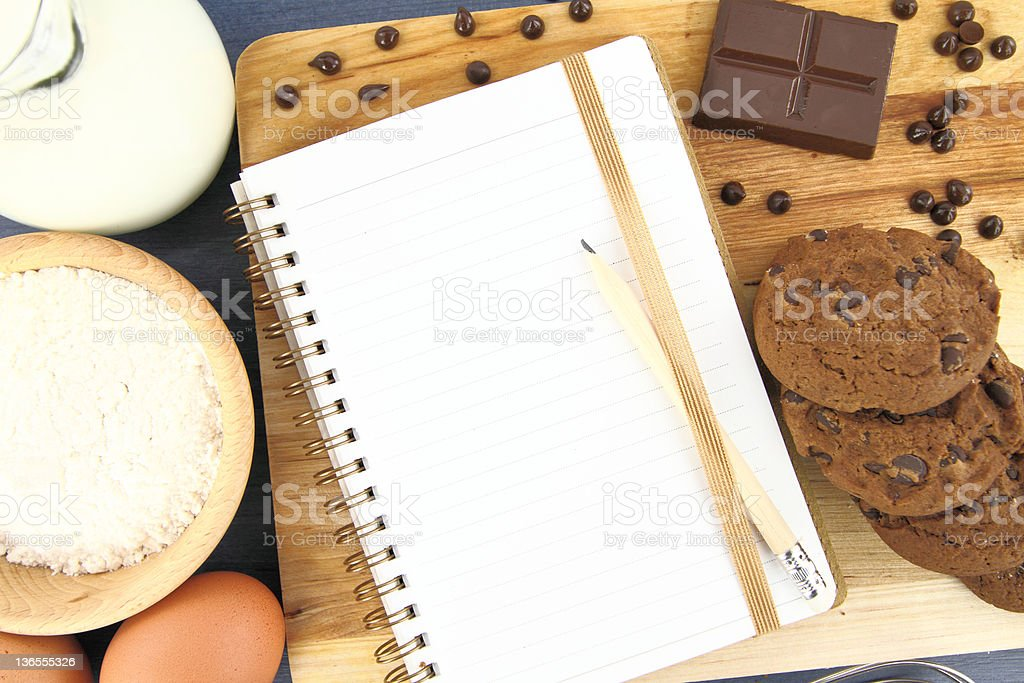 Cookies recipe royalty-free stock photo