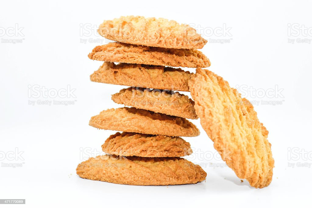 Cookies, stack royalty-free stock photo