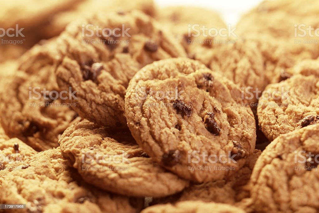 Cookies with chocolate chips royalty-free stock photo