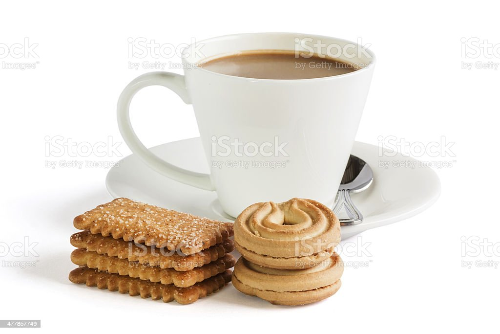 Cookies with cooffee royalty-free stock photo