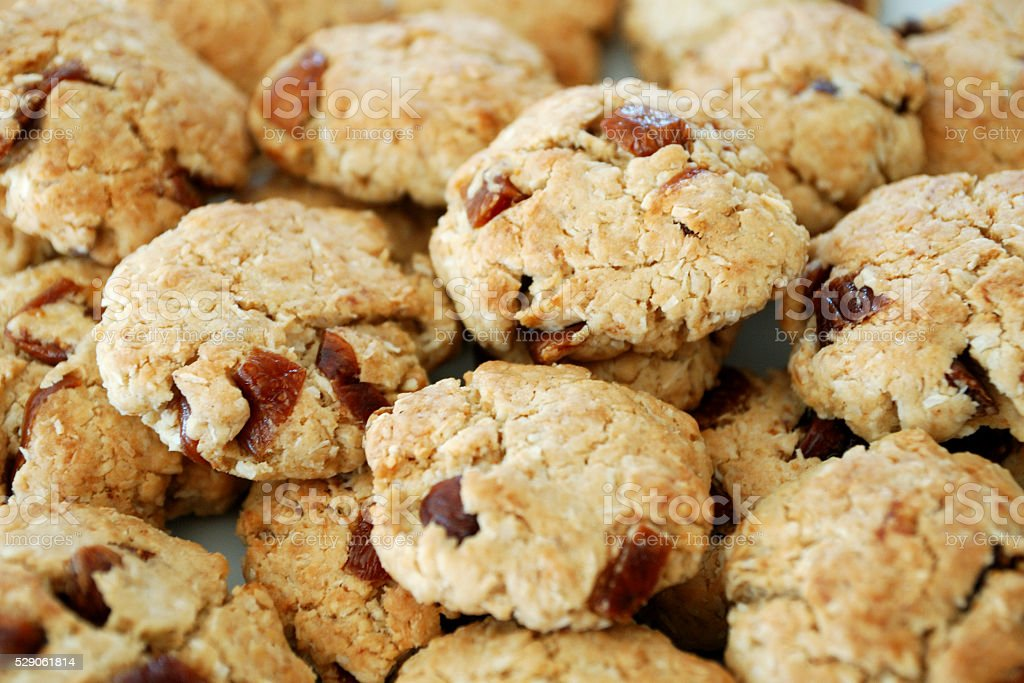 cookies with dried fruits stock photo