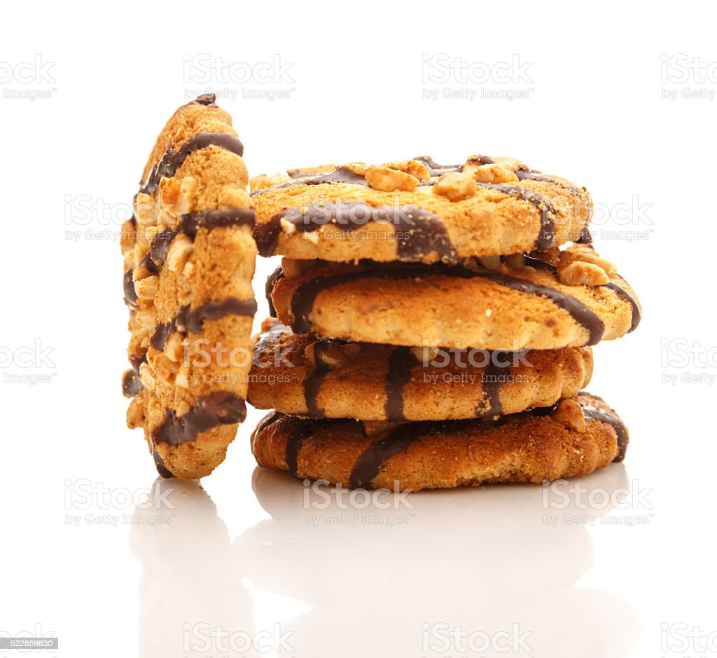Cookies with nuts stock photo