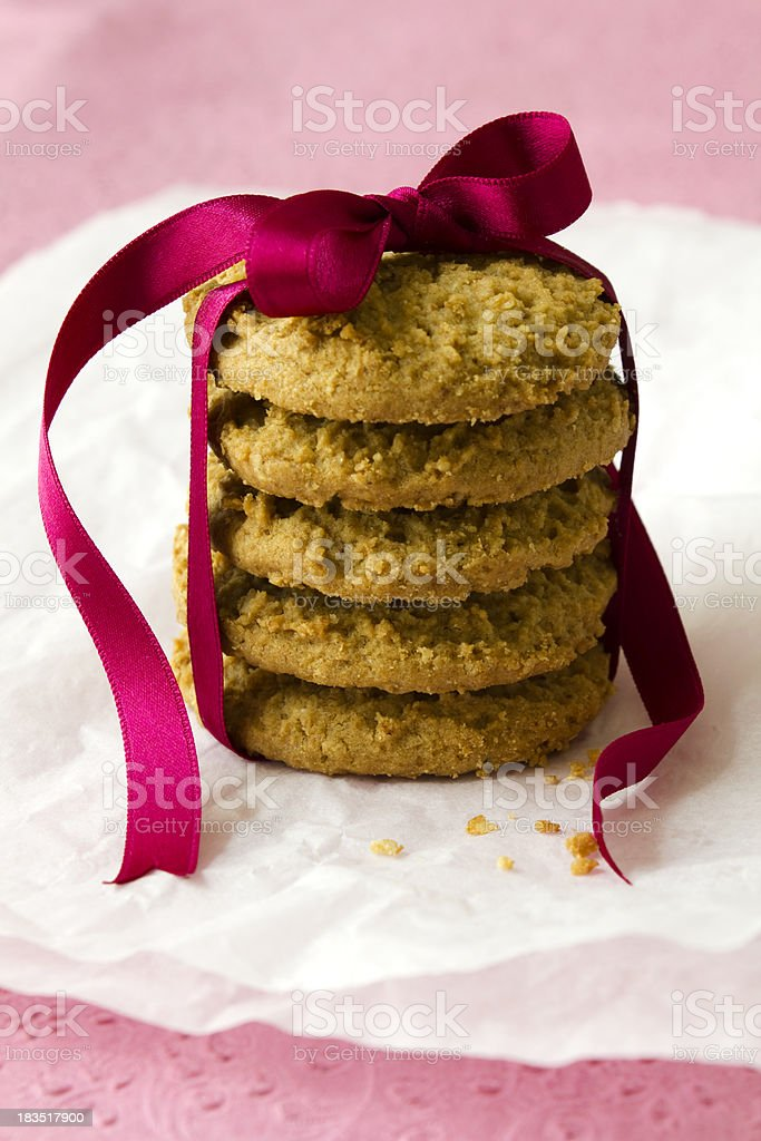 Cookies with ribbon royalty-free stock photo
