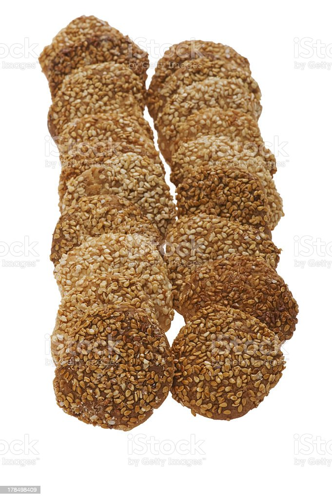 cookies with sesame seeds royalty-free stock photo