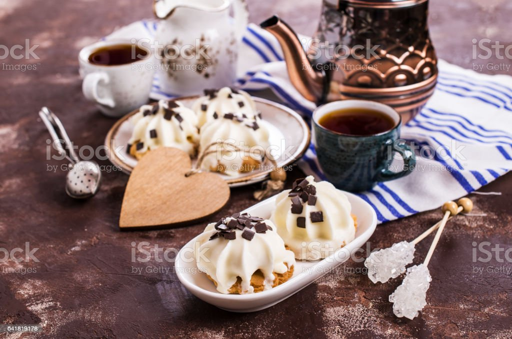 Cookies with souffle stock photo