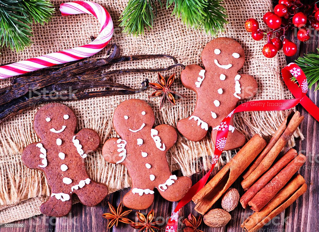 cookies with spice stock photo