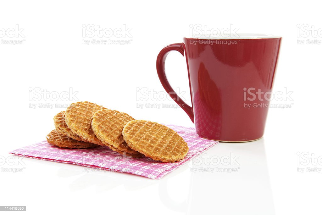 Cookies with syrop, typical Dutch stroopwafels royalty-free stock photo