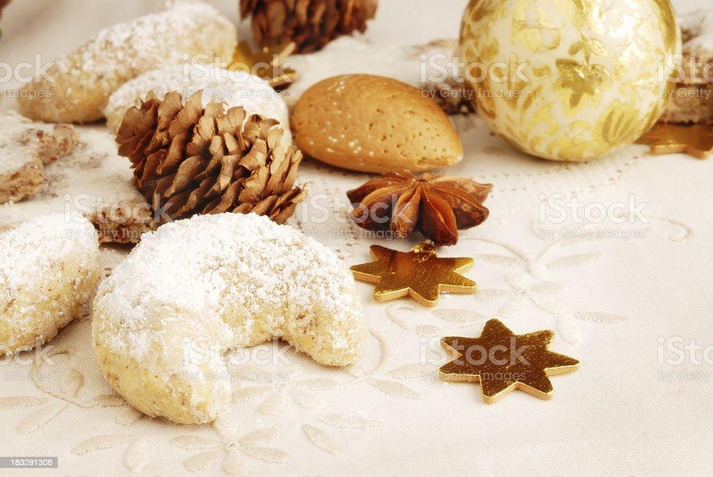 cookies with xmas decoration stock photo