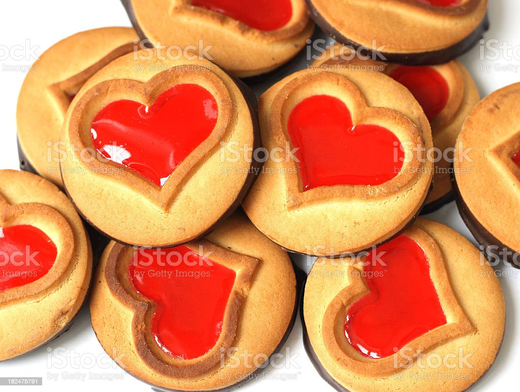 Cookies-hearts royalty-free stock photo