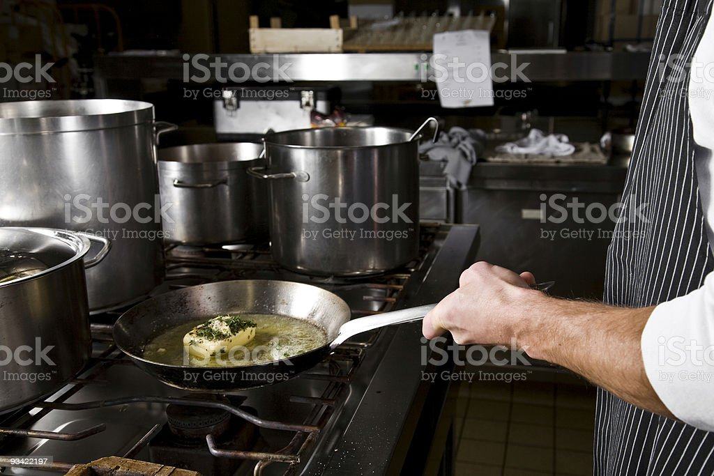 cooking action royalty-free stock photo